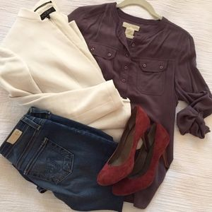 Urban Outfitters Smoky Plum Blouse
